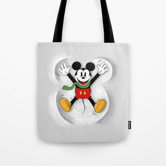 Snow Mickey Tote Bag