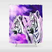 hunting Shower Curtains featuring hunting by arnedayan