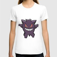 gengar T-shirts featuring Gengar The Ghost - First Generation Pocket Monsters Design Cartoon by Jorden Tually Art