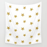 the shining Wall Tapestries featuring Stars shining brightly  by Better HOME