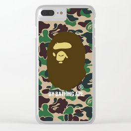 BY BATHING APE ON ABC GREEN CAMO Clear iPhone Case