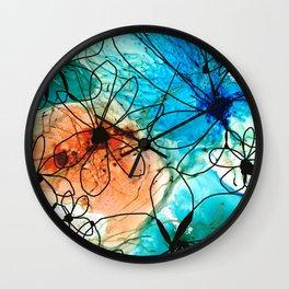 Modern Floral Art - Wild Flowers 2 - Sharon Cummings Wall Clock