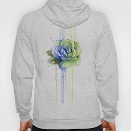 Flower Rose Watercolor Painting 12th Man Art Hoody