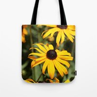 dentist Tote Bags featuring Happy Flowers by IowaShots