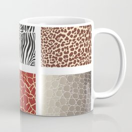 Africa - background with text and texture wild animal Coffee Mug