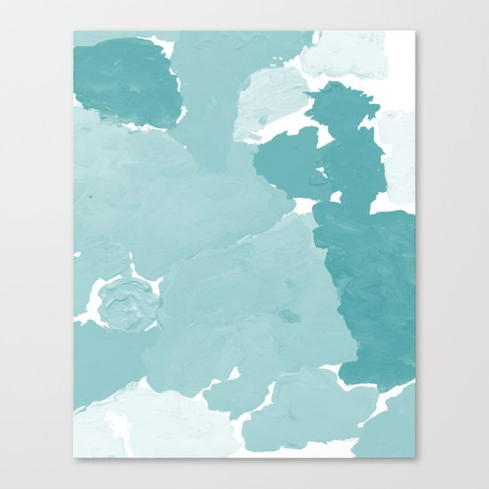 Aerin - abstract minimal painting decor for dorm college office gender neutral cool colors Canvas Print
