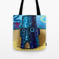 spongebob Tote Bags featuring Spongebob by LilBroxc