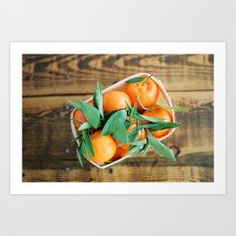 A Basket of Oranges Art Print