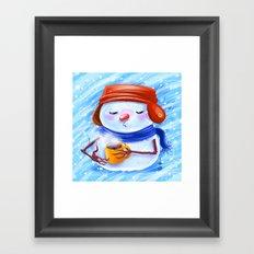 winter season Framed Art Print