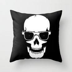 Skull in shades Throw Pillow