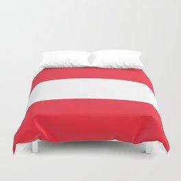 Austrian National flag - authentic version (High quality image) Duvet Cover