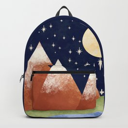 Full Moon In The Mountains Backpack