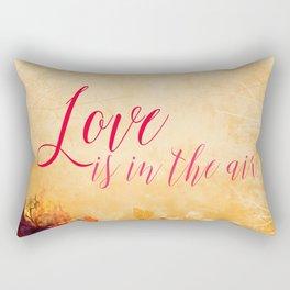 LOVE IS THE AIR Portrait Rectangular Pillow