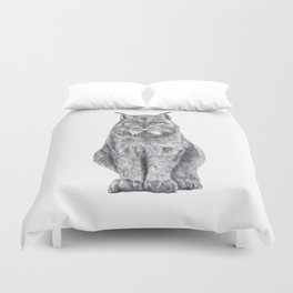 Bobcat from my area Duvet Cover