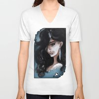 "edgar allan poe V-neck T-shirts featuring Edgar Allan Poe: Ligeia by Barbora ""Mad Alice"" Urbankova"