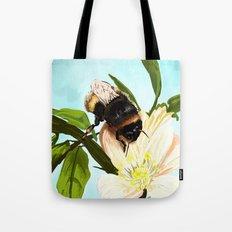 Bee on flower 4 Tote Bag