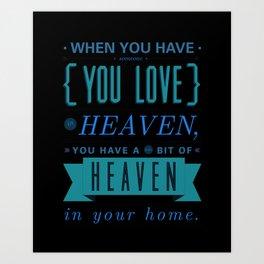 Someone In Heaven-PINK Art Print