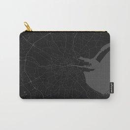 Black on Grey Dublin Street Map Carry-All Pouch