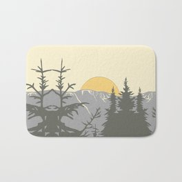 Ski Mountain Sun and Trees - Breckenridge  Bath Mat