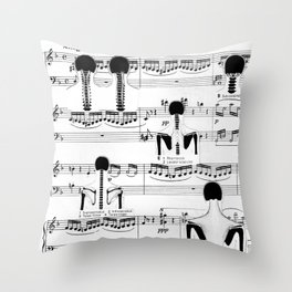 Spinal Chords from Wililam Tell Throw Pillow