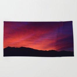 SW Mountain Sunrise - 5 Beach Towel