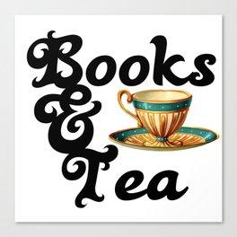Books and Tea Canvas Print