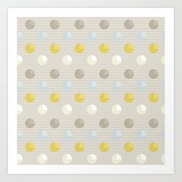 Abstract Dots Art Print