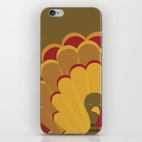 thanksgiving iPhone & iPod Skins featuring Thanksgiving Turkey by Krista Lokey Designs