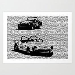 Vintage Racing #1 Art Print