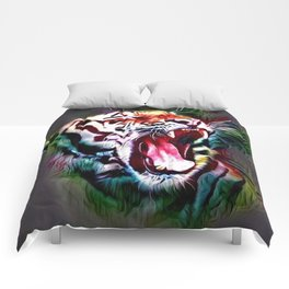 The White Rainbow Tiger (Hipster) Comforters