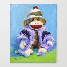 Mona the Sock Monkey Canvas Print