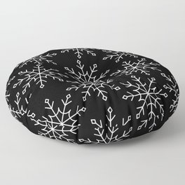 Give Me a Black & White Christmas - 3 Floor Pillow