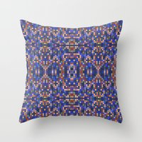mosaic Throw Pillows featuring Mosaic by PureVintageLove