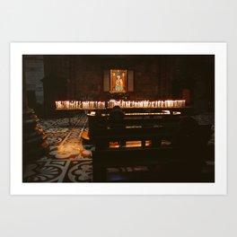 Candles - Duomo di Milano Art Print