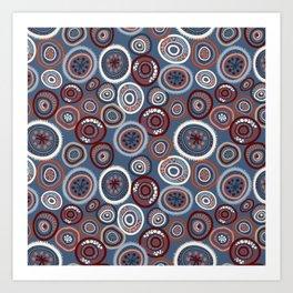 Life Circles:  Slate Art Print