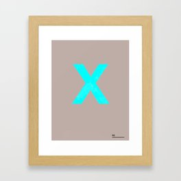 _X_ Framed Art Print