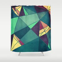 starry night Shower Curtains featuring Starry Night by VessDSign