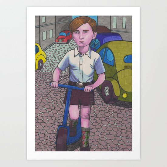 Scooter Boy Art Print