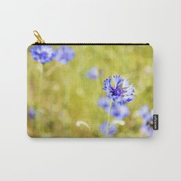 Bachelor Buttons Light Carry-All Pouch