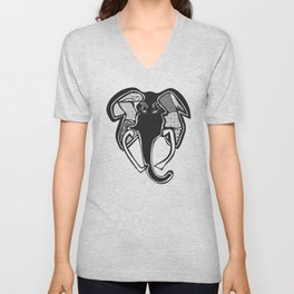 Elephant, redesigned Unisex V-Neck