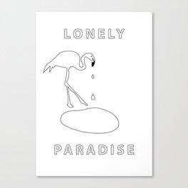 flamingo lonely paradise Canvas Print