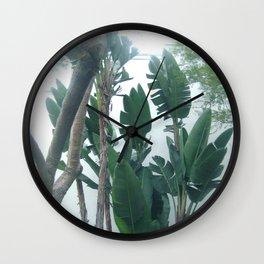 California Palms, Mid Century Style Eames Era, Photography, Minimalist, Palm Tree Wall Clock