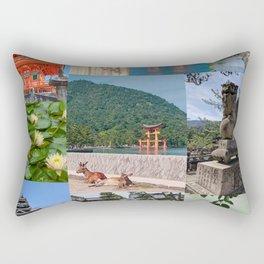 Japan Collage 1 Rectangular Pillow