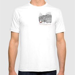 Sugarbush Vermont Serious Fun for Skiers- Zentangle Illustration T-shirt