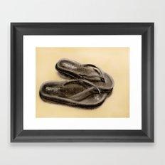 Sandals Framed Art Print