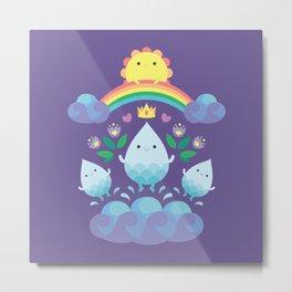 Happy water spirits Metal Print