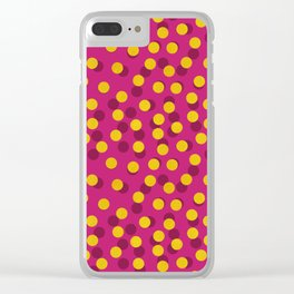 Gold Spotty Dots Clear iPhone Case