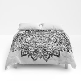 BLACK JEWEL MANDALA Comforters