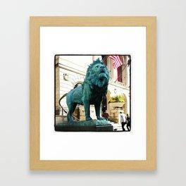 Green Lion Framed Art Print
