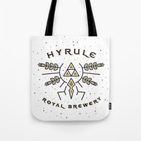hyrule Tote Bags featuring Hyrule Royal Brewery by Tugrul Peker